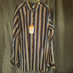 NWT TOMMY BAHAMA Sherif  Striped Shirt XL